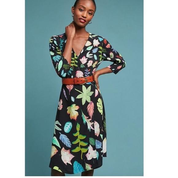 Anthropologie Dresses Colario Floral Wrap Dress Poshmark